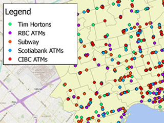Potential public locations for AEDs